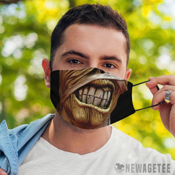 Face Mask Iron Maiden Tour Eddie Powerslave Face Mask