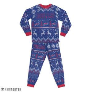 Kid Buffalo Bills Ugly Pattern Raglan Pajamas Set