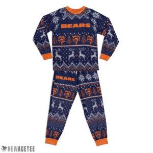 Kid Chicago Bears Ugly Pattern Raglan Pajamas Set