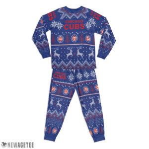 Kid Chicago Cubs Ugly Pattern Raglan Pajamas Set