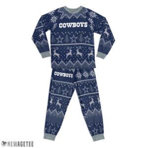 Kid Dallas Cowboys Ugly Pattern Raglan Pajamas Set
