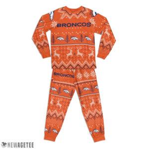 Kid Denver Broncos Ugly Pattern Raglan Pajamas Set