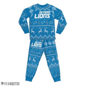 Kid Detroit Lions Ugly Pattern Raglan Pajamas Set