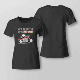 Lady Tee Best snoopy life is better with Harley Davidson shirt
