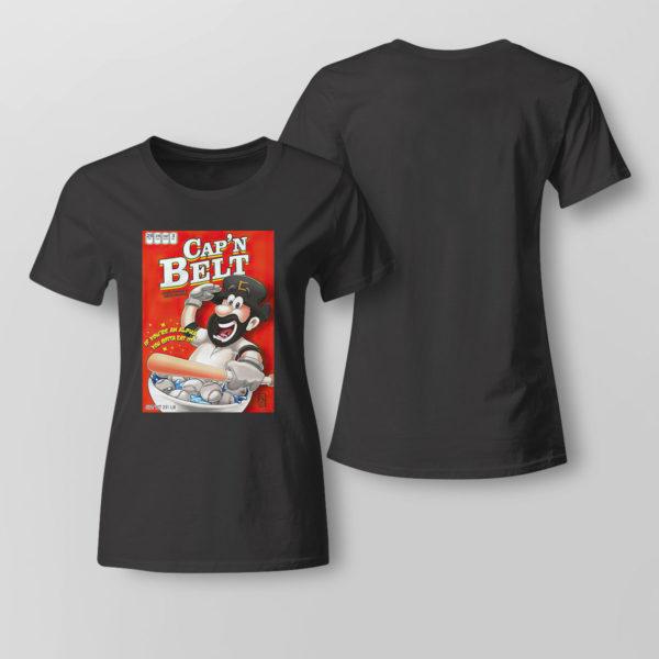 Lady Tee Capn Belt baseball if youre an alpha you gotta eat it shirt