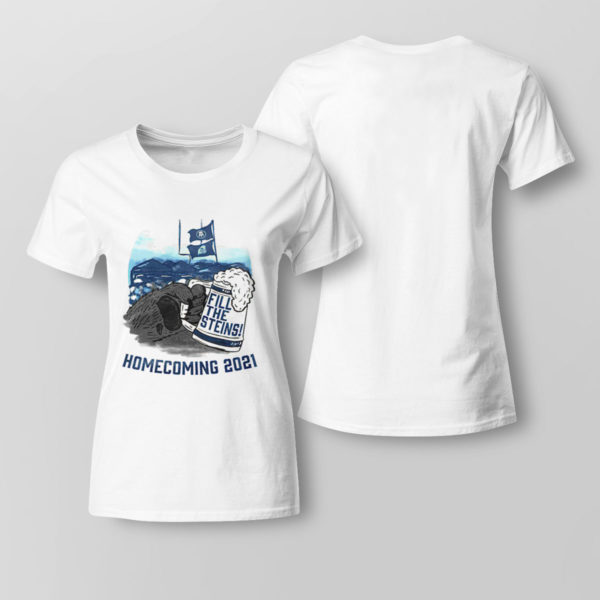 Lady Tee Fill the Steins Homecoming 2021 beer t shirt