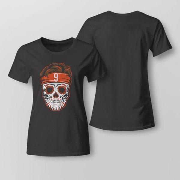 Lady Tee Joe Burrow Sugar Skull Shirt