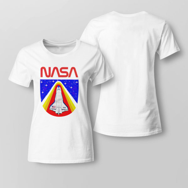 Lady Tee Random Red World Spaceship Nasa shirt Tank top