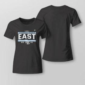 Lady Tee Tampa Bay Rays AL East Champions Shirt