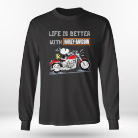 Longsleeve shirt Best snoopy life is better with Harley Davidson shirt