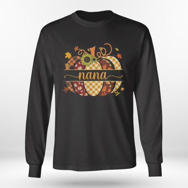 Longsleeve shirt Blessed Nana Fall Pumpkin Autumn Thanksgiving T Shirt