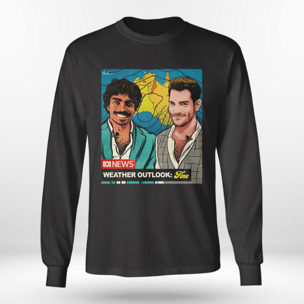 Longsleeve shirt Original nate Byrne abc news weather outlook fine shirt