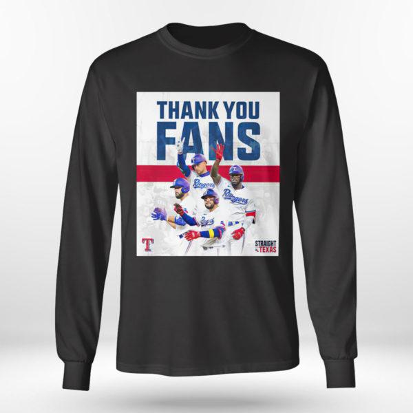 Longsleeve shirt Thank You Fans Texas Rangers Straight Up Shirt