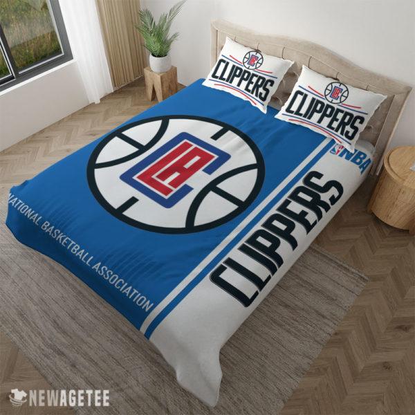 Pillow Case LA Clippers NBA Basketball Duvet Cover and Pillow Case Bedding Set