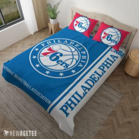 Pillow Case Philadelphia 76ers NBA Basketball Duvet Cover and Pillow Case Bedding Set