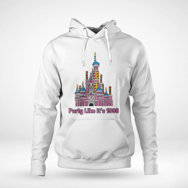 Pullover Hoodie 50th anniversary case castle party like its 1996 littleshopofgeeks merch shirt