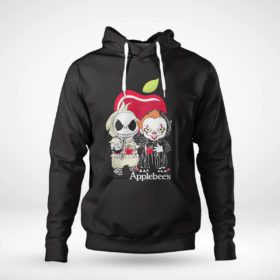 Pullover Hoodie Baby Jack Skellington And Baby Pennywise Is Friends Applebees Shirt