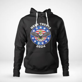 Pullover Hoodie Donald Trump Eagle mean tweets 2024 American flag shirt 1
