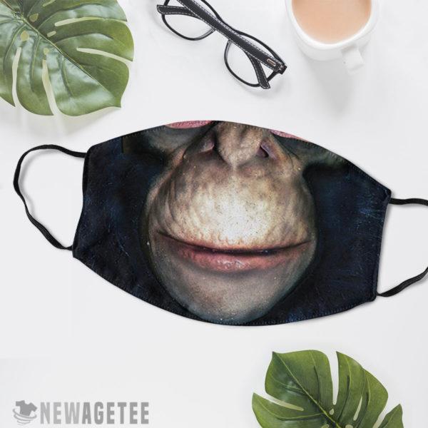 Reusable Face Mask Chimpanzee Gorilla Face Mask Halloween Costume