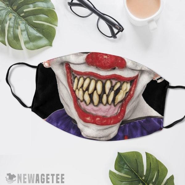 Reusable Face Mask Evil clown Face Mask Halloween costume