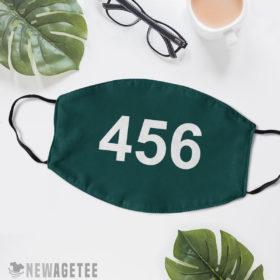 Reusable Face Mask Squid Game 456 Face Mask Seong Gi hun