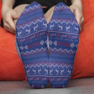 Sock Buffalo Bills Adult Ugly Christmas Crew Socks