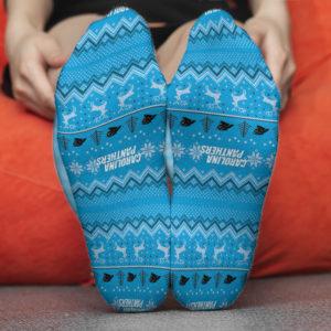 Sock Carolina Panthers Adult Ugly Christmas Crew Socks