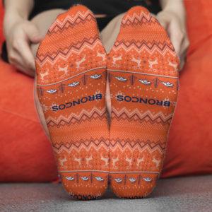 Sock Denver Broncos Adult Ugly Christmas Crew Socks