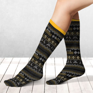 Socks Boston Bruins Adult Ugly Christmas Crew Socks