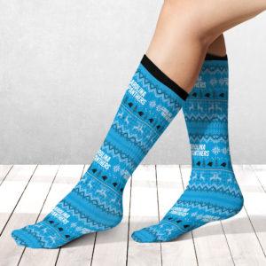 Socks Carolina Panthers Adult Ugly Christmas Crew Socks
