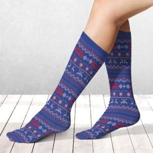 Socks Chicago Cubs Adult Ugly Christmas Crew Socks