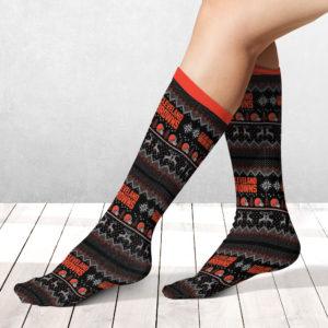 Socks Cleveland Browns Adult Ugly Christmas Crew Socks