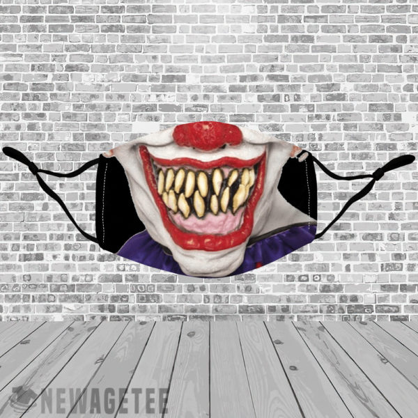 Stretch to Fit Mask Evil clown Face Mask Halloween costume