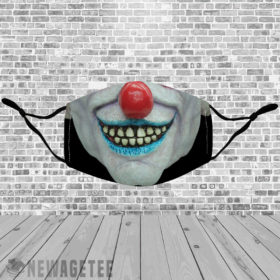 Stretch to Fit Mask Evil clown Masquerade ball Face Mask