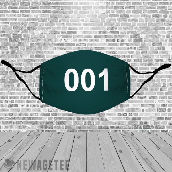 Stretch to Fit Mask Squid Game 001 Face Mask Oh II Nam