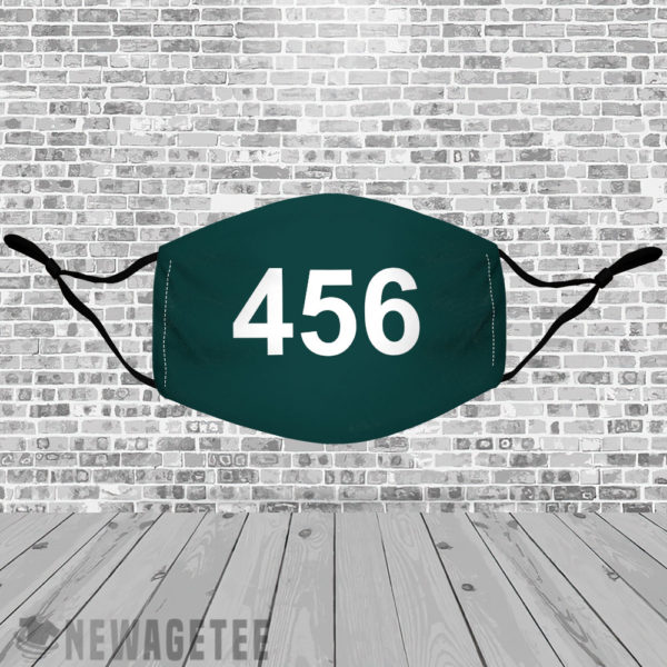 Stretch to Fit Mask Squid Game 456 Face Mask Seong Gi hun