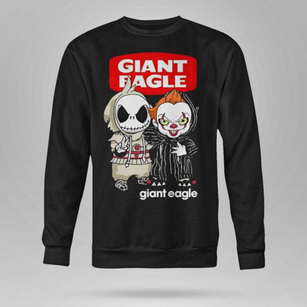 Sweetshirt Baby Jack Skeleton and Baby Pennywise Giant Eagle shirt
