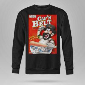 Sweetshirt Capn Belt baseball if youre an alpha you gotta eat it shirt