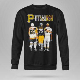 Sweetshirt Pittsburgh Mario Lemieux Joe Greene Roberto Clemente signatures shirt
