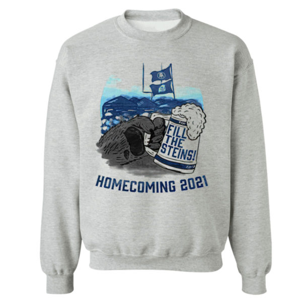 Sweetshirt sport grey Fill the Steins Homecoming 2021 beer t shirt
