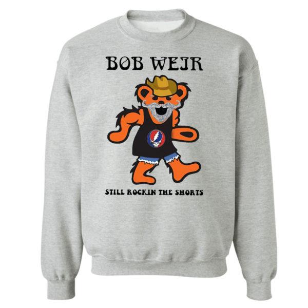 Sweetshirt sport grey Grateful Dead Bear Bob weir still rockin the short shirt