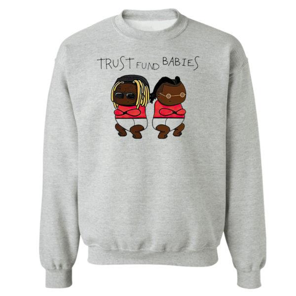 Sweetshirt sport grey Lil Wayne and Rich the Kid Trust Fund Babies shirt
