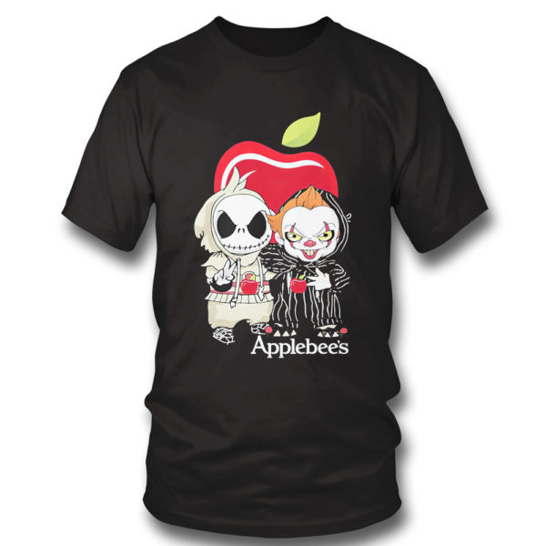 T Shirt Baby Jack Skellington And Baby Pennywise Is Friends Applebees Shirt