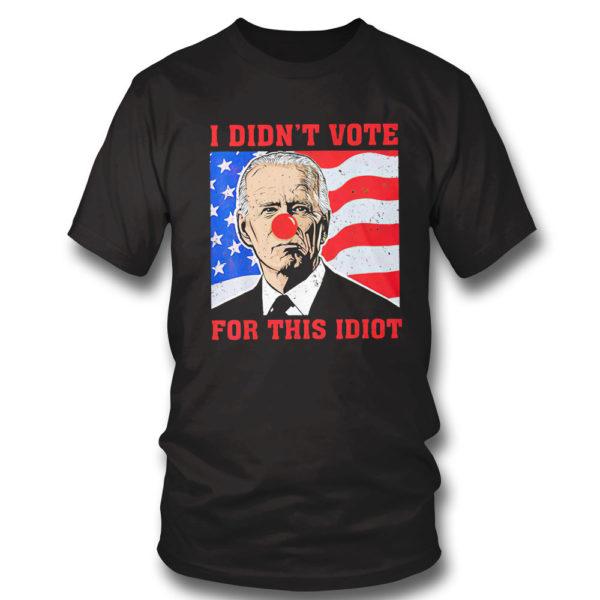 T Shirt Biden Sucks I didnt Vote For This Idiot American flag Shirt