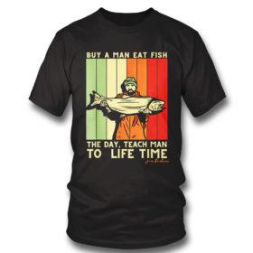 T Shirt Joe Biden Mens Buy a Man Eat Fish the Day Teach Man shirt