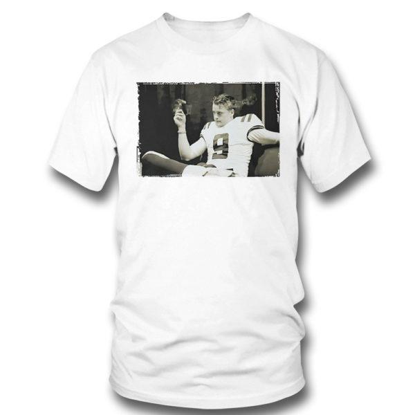 T Shirt Joe Burrow Smoking Cigar T Shirt