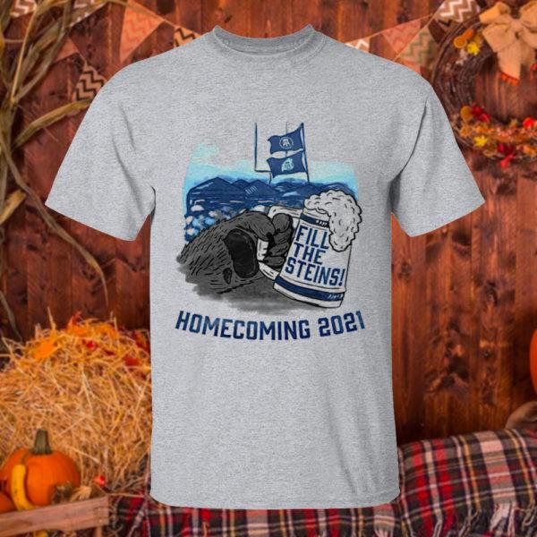 T Shirt Sport grey Fill the Steins Homecoming 2021 beer t shirt