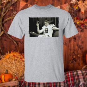 T Shirt Sport grey Joe Burrow Smoking Cigar T Shirt
