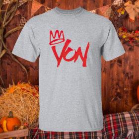 T Shirt Sport grey King Von Shirt
