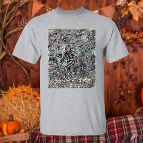 T Shirt Sport grey The Hermit Sasquatch Bigfoot shirt